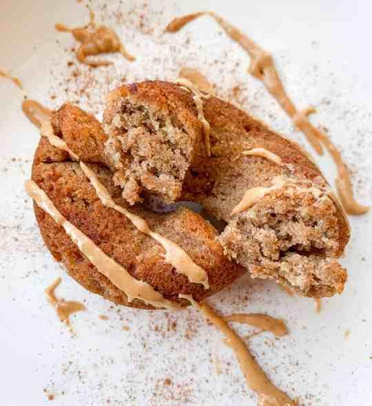 healthy paleo cinnamon banana donuts