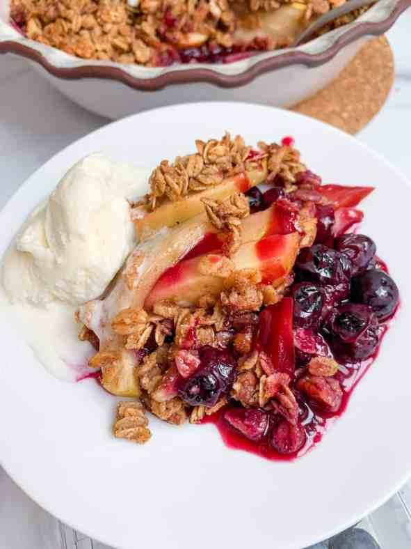 Easy Healthy Blueberry Apple Crisp