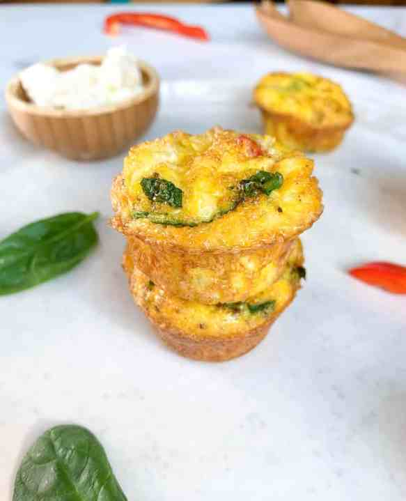 healthy mini breakfast egg muffins