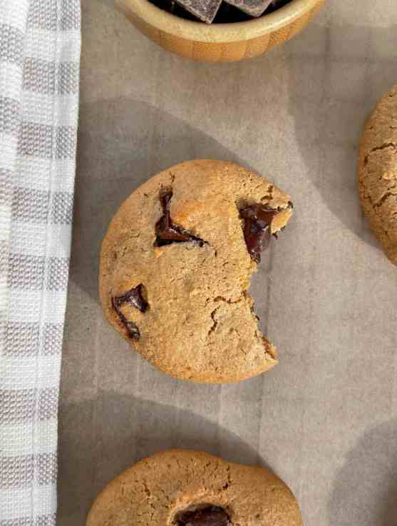 best ever soft paleo chocolate chip cookies