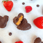Healthy Protein Cookie Dough Hearts - recipe by Healthful Blondie
