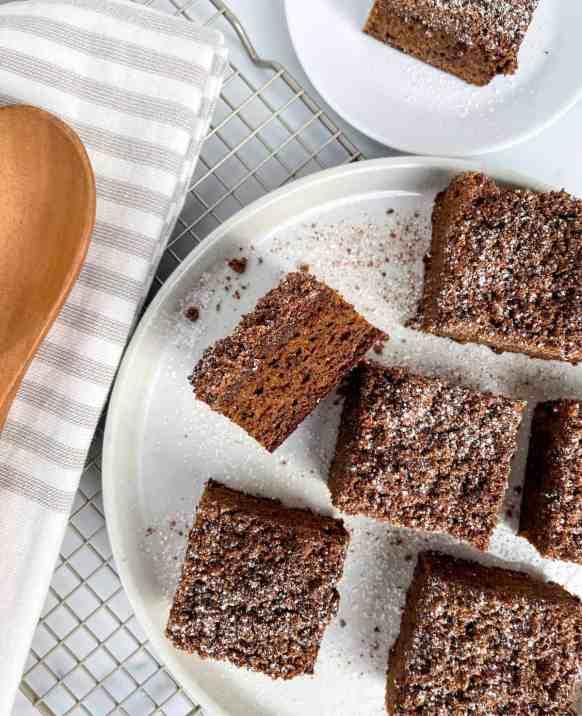 healthy, Grain-free, gluten-free, paleo gingerbread coffee cake