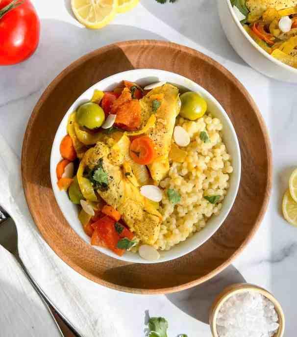 Best Ever Healthy Moroccan Chicken Tagine! Recipe by Healthful Blondie.