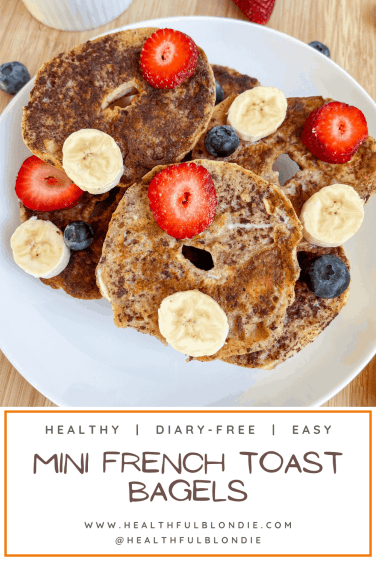 healthy mini french toast bagels