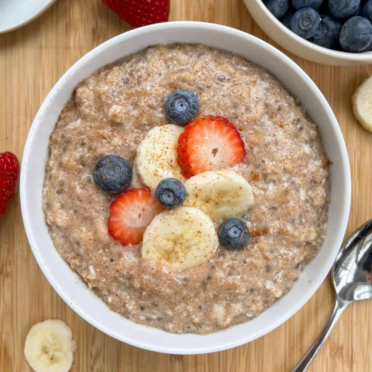 Best Ever thick, creamy, healthy high protein stove top oatmeal