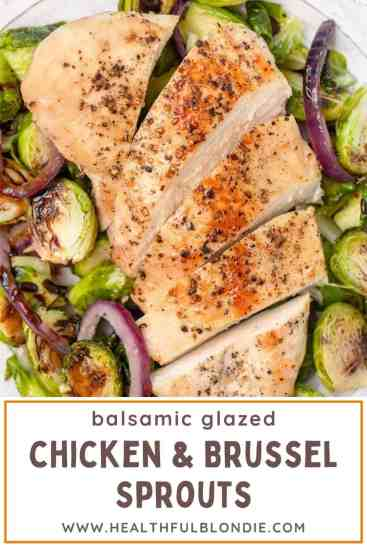 Pin for sheet pan chicken and brussel sprouts