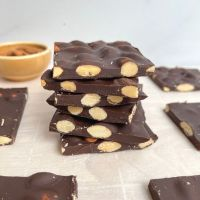 3 Ingredient Dark Chocolate Almond Bark