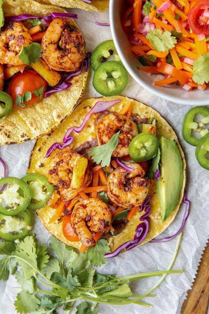 simple mexican shrimp tacos