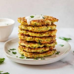 crispy healthy zucchini fritters