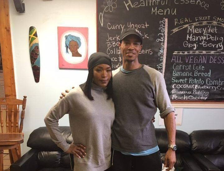 Angela Bassett Stopped by Healthful Essence