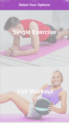Exercise options