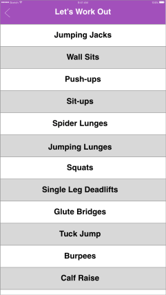 Single exercise options
