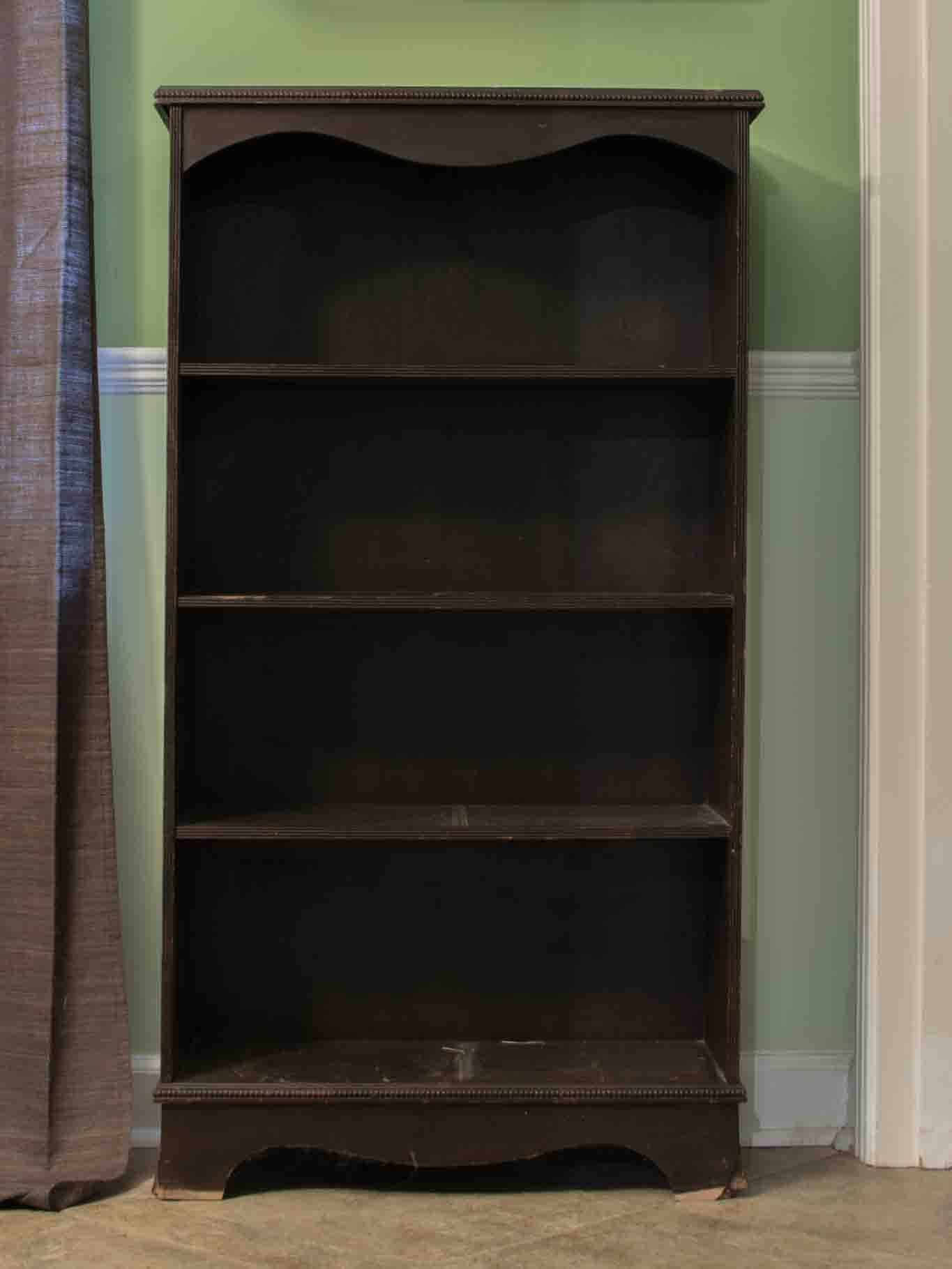 Learn how to make an old, ugly bookcase look new and gorgeous