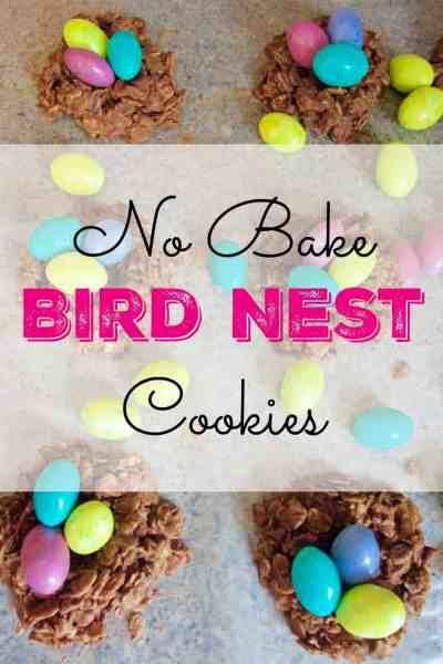 No Bake Bird Nest Cookies