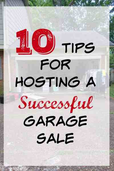 A garage sale is a great way to make some money and get rid of unwanted stuff at the same time. Here are my top tips for hosting a successful garage sale.