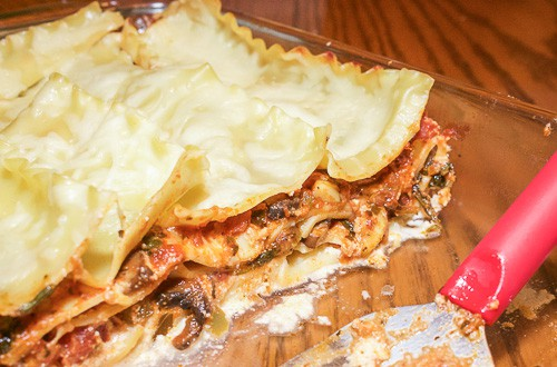 This hearty vegetable lasagna is easy to make and oh so delicious. It's a wonderfully warm dish for the cold winter months.