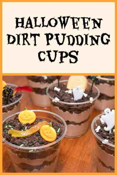 Check out these adorable Halloween dirt pudding cups. These pumpkin patch and graveyard pudding cups are a fun, easy, and spooky Halloween treat.