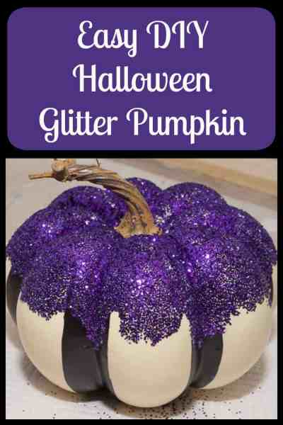 Easy DIY Halloween Glitter Pumpkin