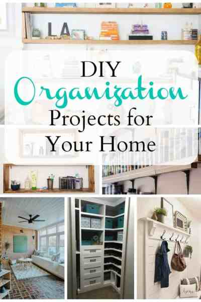 Check out these amazing DIY organization projects for your home. It's everything you need to get organized.