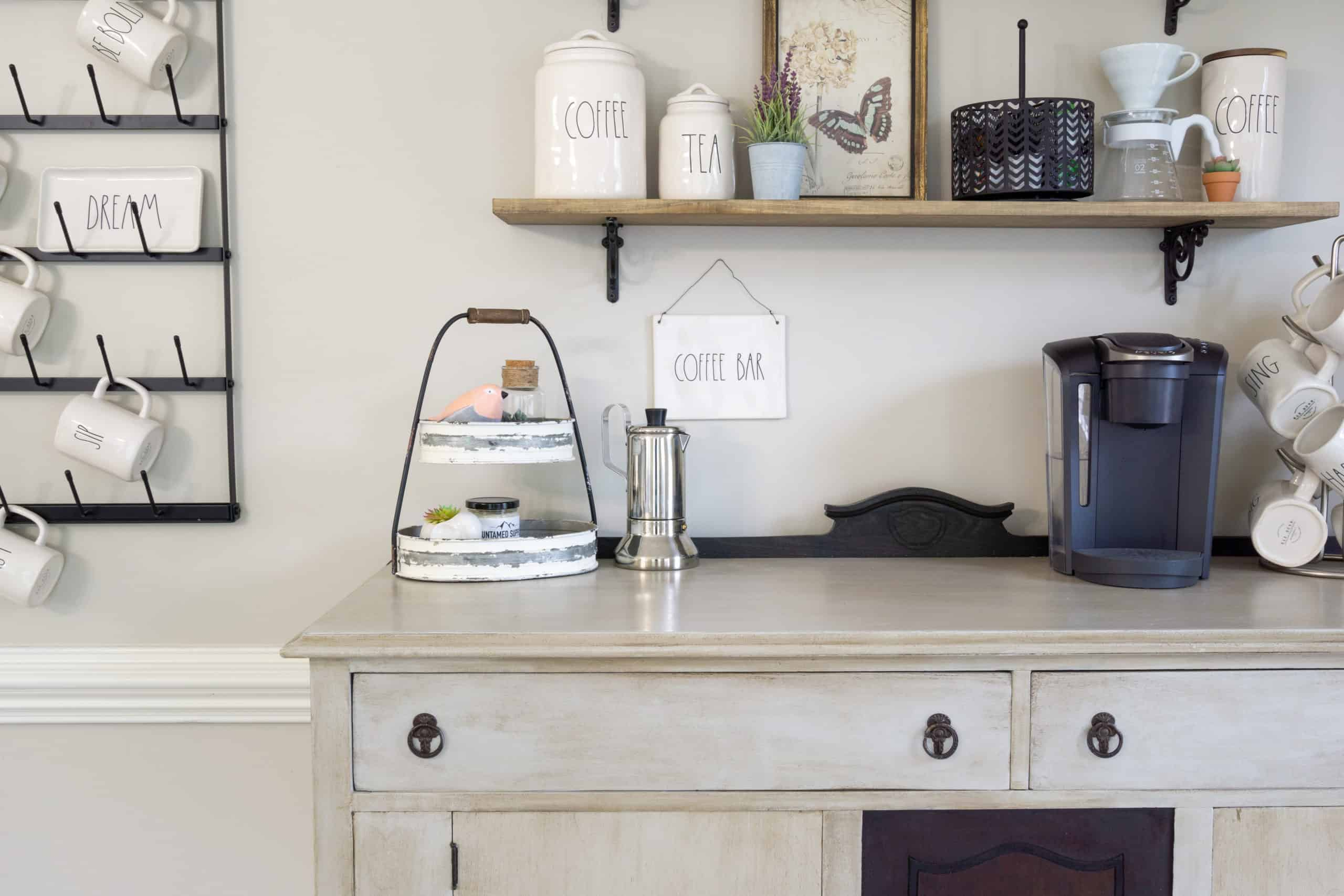 I'm sharing 6 coffee bar essentials, now that I finally have my very own coffee bar.