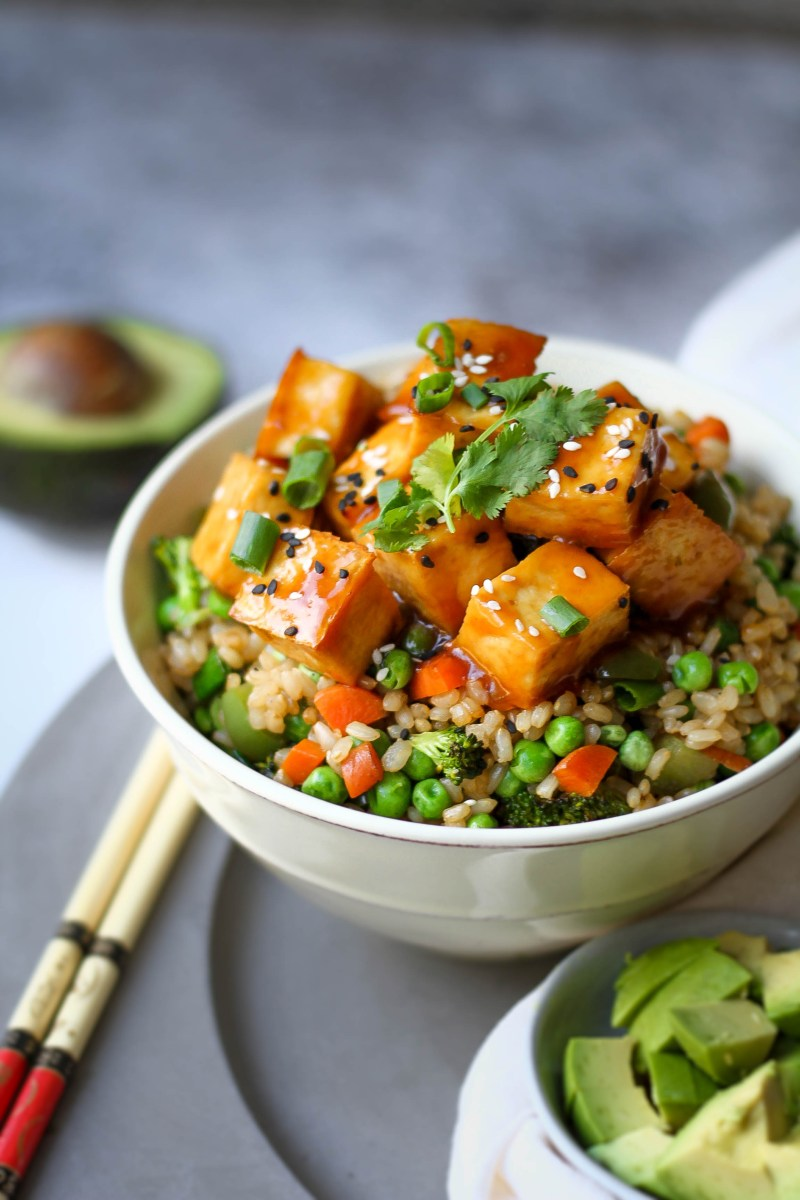 Sweet & Sour Tofu Fried Rice