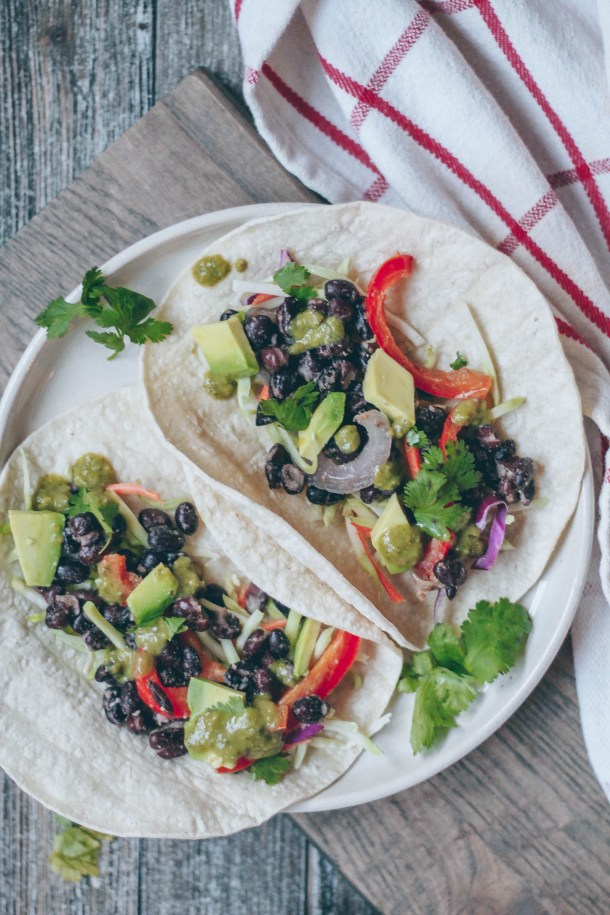 15-minute Cumin-spiced Black Bean Tacos