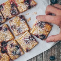 Blueberry Lemon Bars | Gluten Free & Vegan
