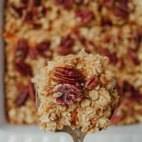 Sweet Potato Pecan Baked Oatmeal