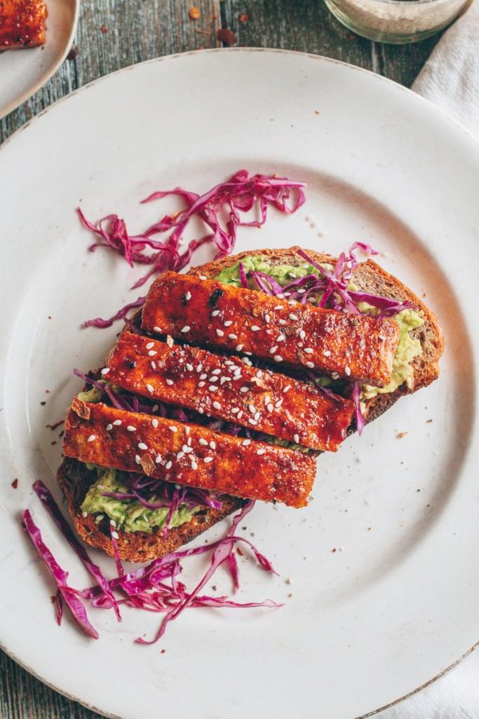 crispy bbq tofu toast