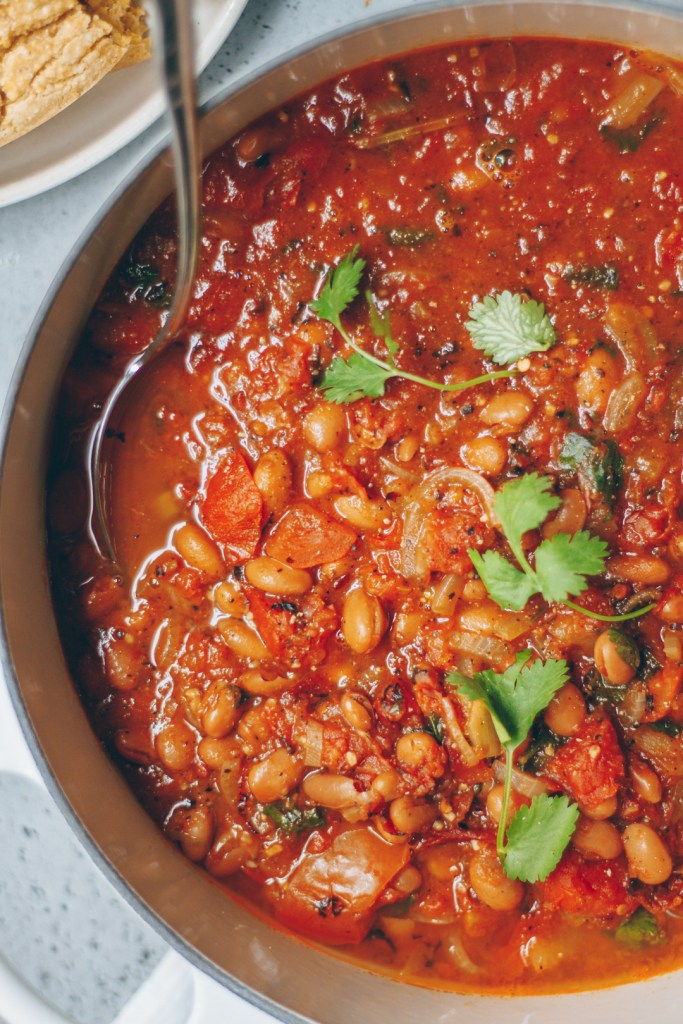 spicy vegetarian pinto bean chili