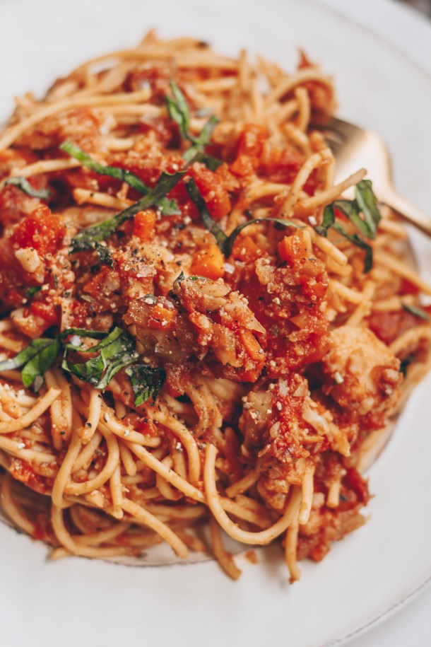 Vegan Cauliflower Bolognese