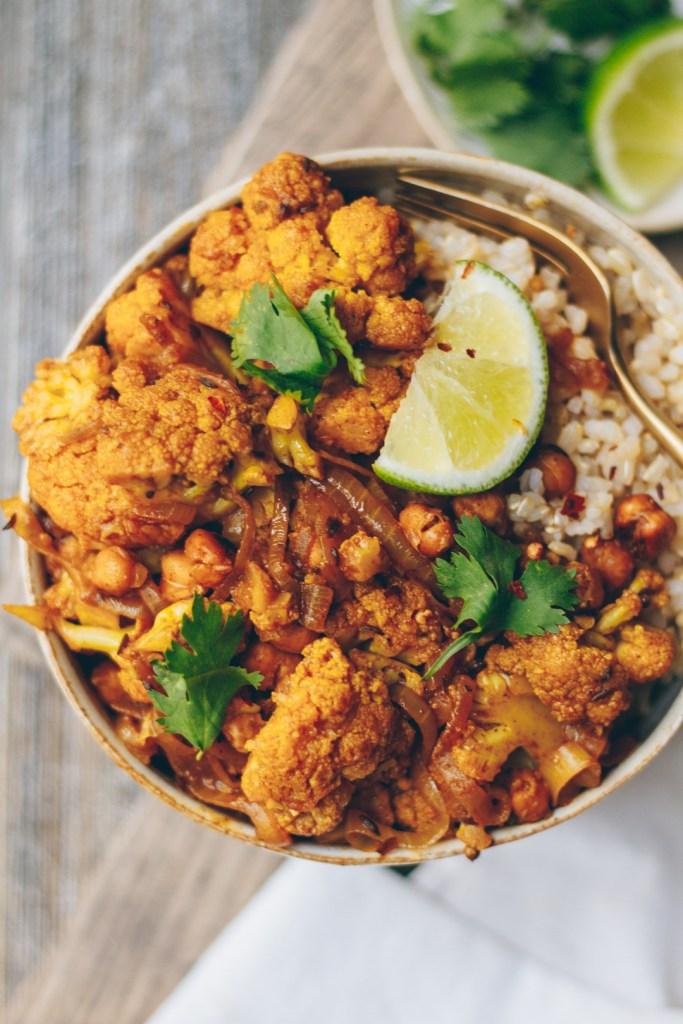 Indian-Spiced Cauliflower