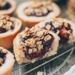 mixed berry crumble tarts