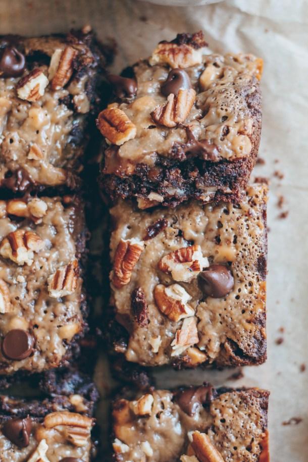 fudgy caramel pecan brownies