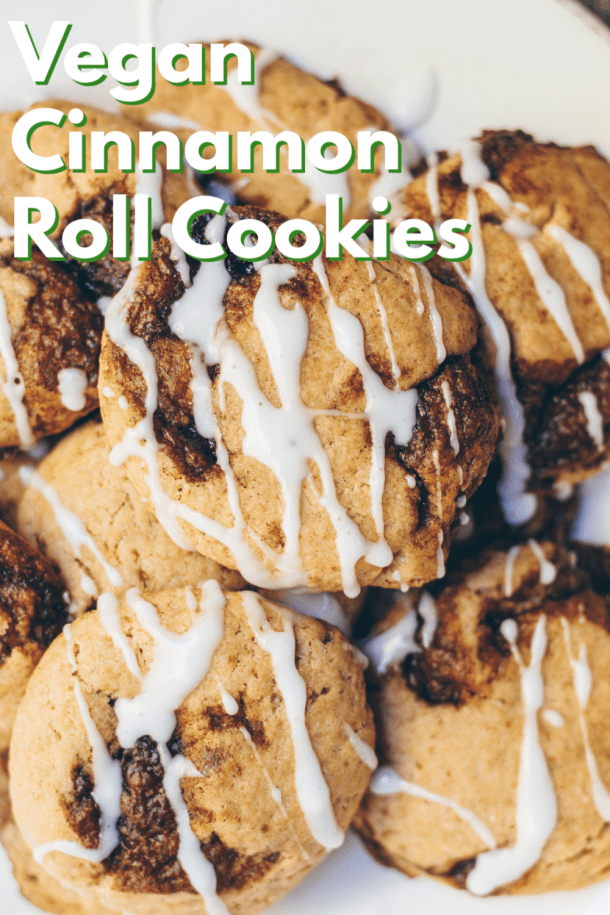 vegan cinnamon roll cookies