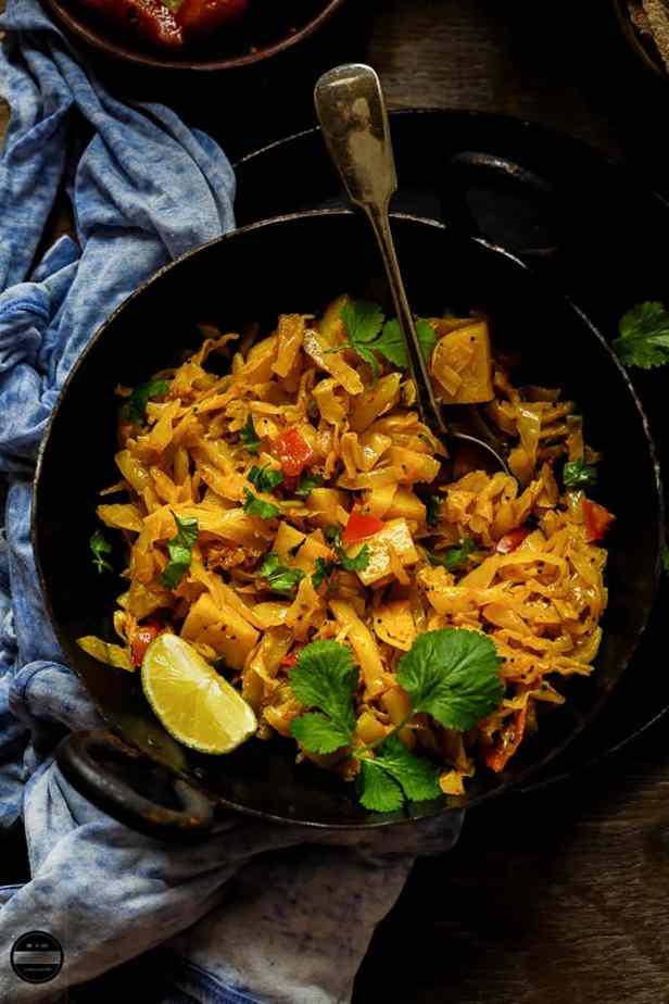 Cabbage And Potato Sabji