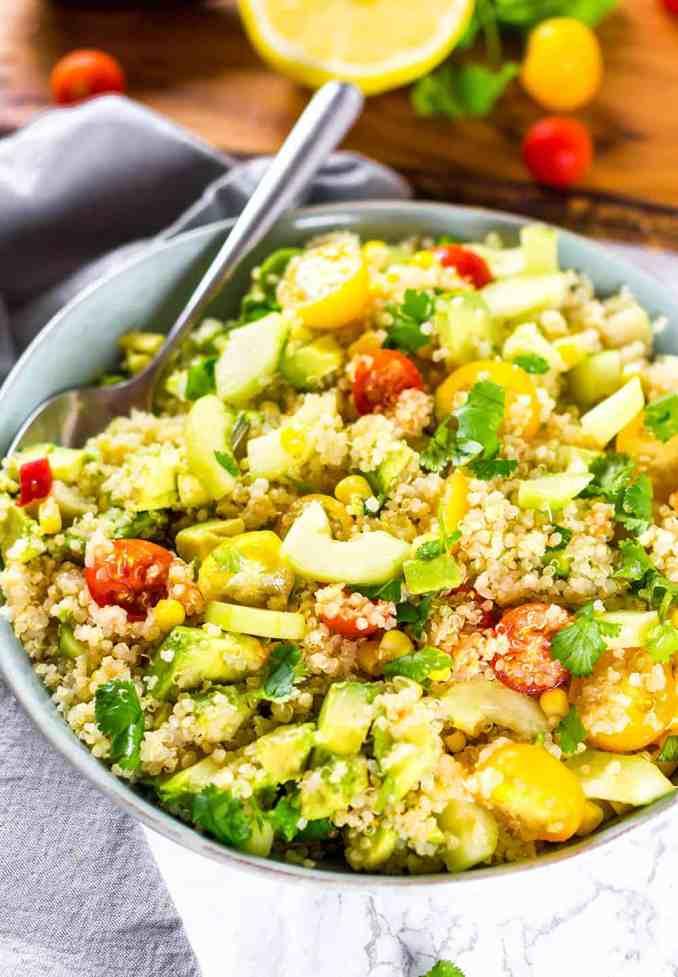 Simple Quinoa Salad Recipe - Healthier Steps