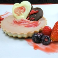 Baked Misti Doi (Sweetened Yogurt) Cheesecake(let)s with Raspberry and White Chocolate {Eggless}