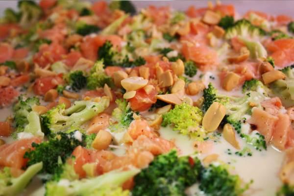 Brokkoli Lachs Auflauf