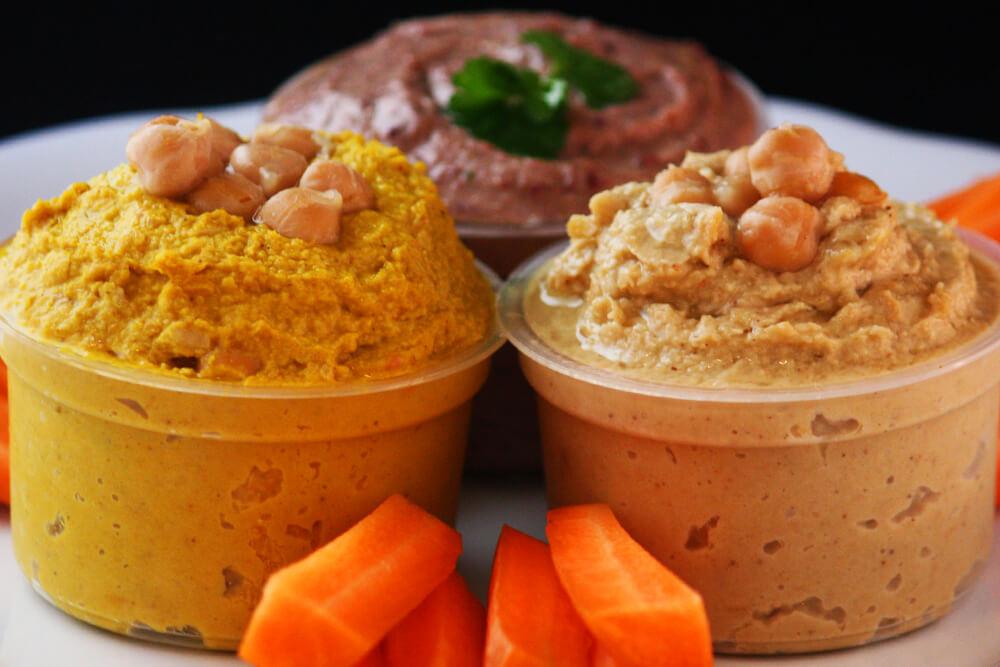 Hummus Trio als Dip