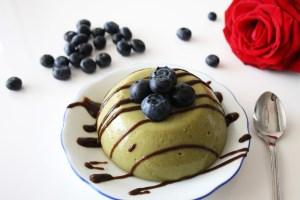 Pudding aus Matchapulver - reich an Antioxidantien