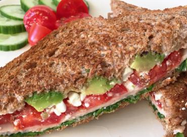 Easy pan avocado chicken sandwich