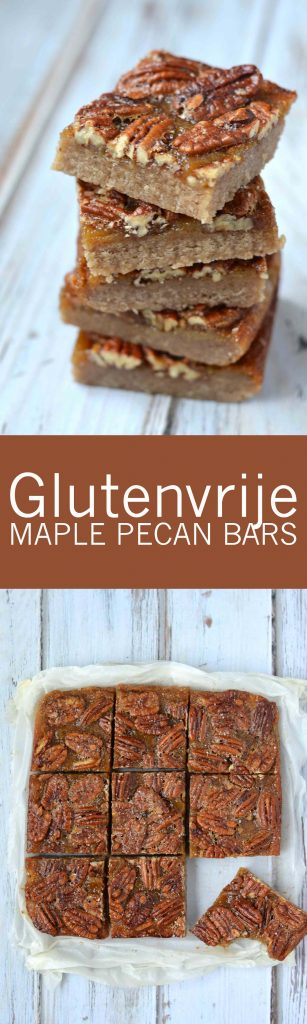 Goddelijke salted maple pecan bars!