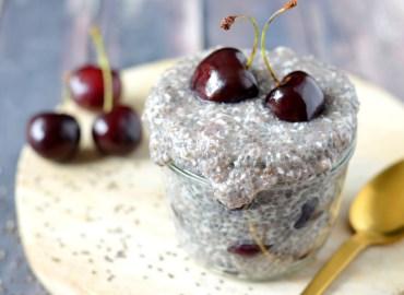 Recept chiapudding met kokos en kersen