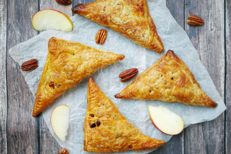 Vegan appelflap met noten maken