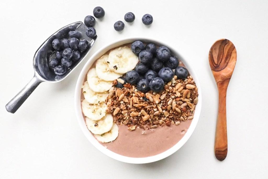 Chocolade smoothie bowl recept