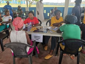 Pic 8: HKN Staff counselling clients on AMR
