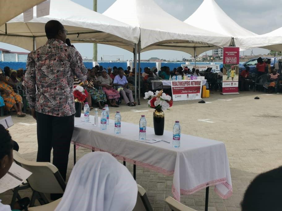 Pic2: Mr. Daniel E. Mensah delivering the welcome address