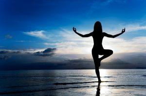 Meditation and yoga on the beach