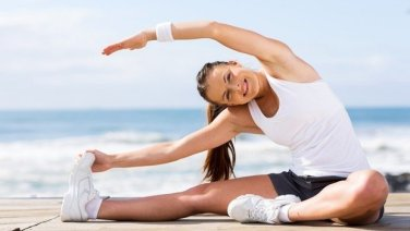 stretching health by girl